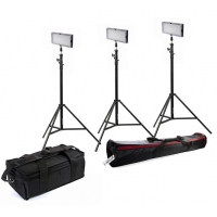 Bresser SL-360A Bi-Color LED Set - 3x LED en 3x Statief