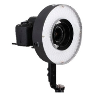 Bresser LED LH-600 36W/5.500LUX Ringlamp + Netadapter + 2 Accu's