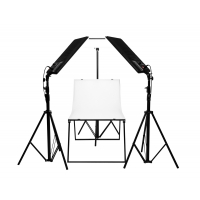 LedGo Nanguang T504 kit product photography table with 3 lights